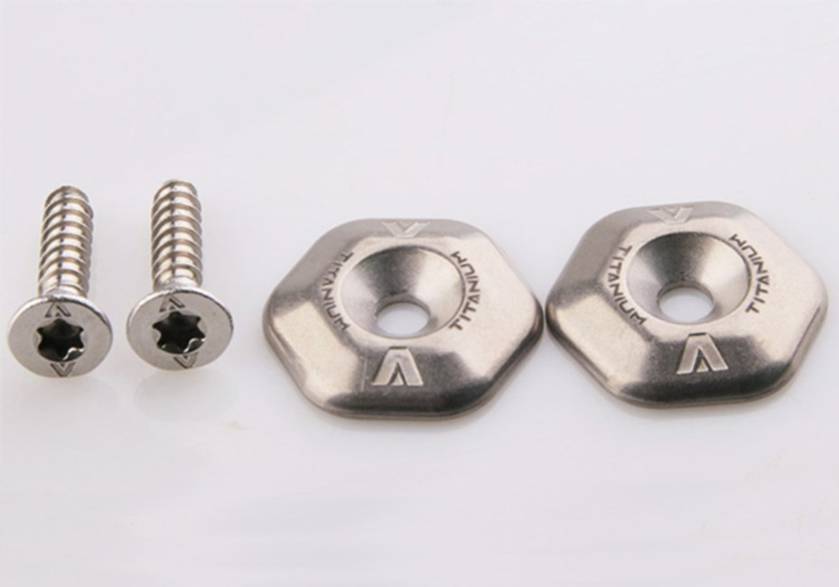 Armstrong Foils - Titanium washers, 316L  foot strap screws